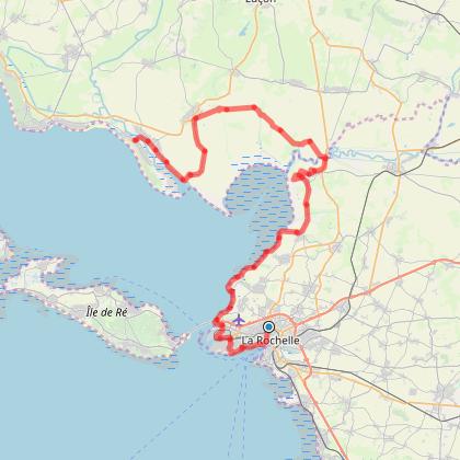 La Rochelle La Faute en VTC par le littoral (variante de la Vélodyssée)