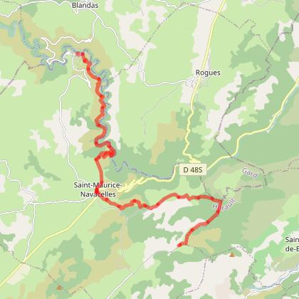 Navacelles-Les Natges 20,4 Kms +638 -513