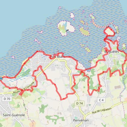 Tour de Buguélès et Port-Blanc