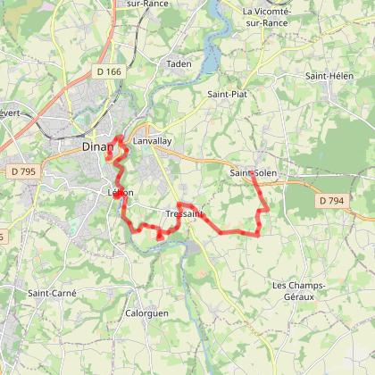 Etape 35 - TRESSAINT - LEHON - DINAN (Prendre parcours du tour de Dinan)