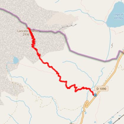 Sentier de Lancebranlette-le lac sans Fond