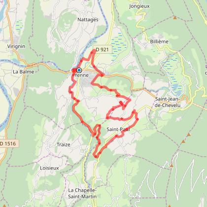 yenne-Ameysin-Les mercries-les reigniers-St Paul-la Muraz-Arcoliere-Landrecin-yenne-25km