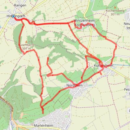 Circuit des 3 chapelles au Kochersberg
