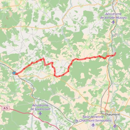 De Bar-sur-Aube au canal entre Champagne et Bourgogne