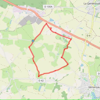 VENANSAULT : circuit de La Boule / La Brossardière (8,8 km)
