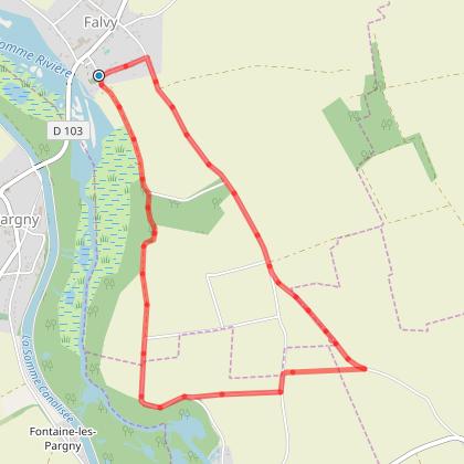 Rando Santé - FALVY - La Fosse aux Chats - 5,8 Kms