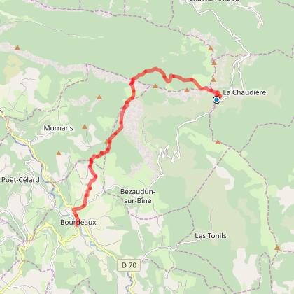 Col de la Chaudière - Bourdeaux