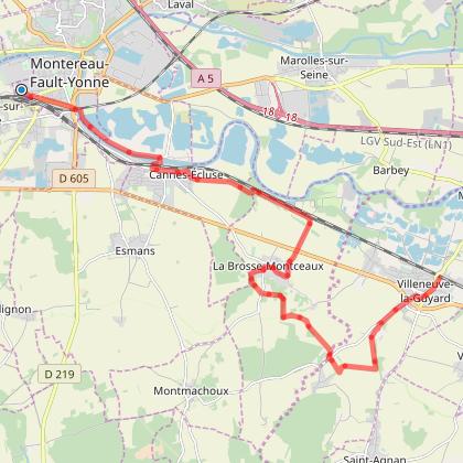 Montereau-Fault-Yonne - Villeneuve La Guyard