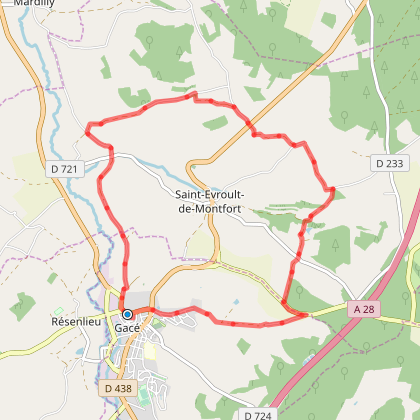 Saint-Evroult-de-Montfort - Circuit VTT
