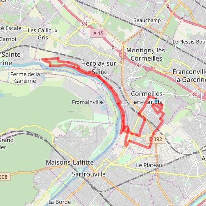 Audax 25 km Cormeilles le 2019-04-07