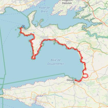Camaret sur mer - Douanenez - 80 km sur 3 jours
