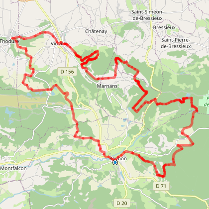 Boucle VTT : Tour des Chambaran