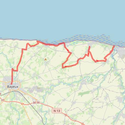 Du Bessin à la côte Fleurie - Vélorizons séjour seniors jour 2 étape 1 Bayeux - Courseulles-sur-mer