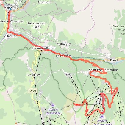 Moûtiers - Col de la Loze (Courchevel)