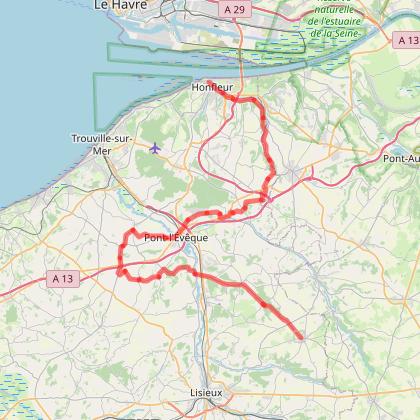 Cycle Travel day 12 step 7 Moyaux Honfleur