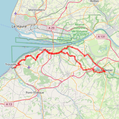 Cycle travel day 14 step 8 Honfleur Deauville