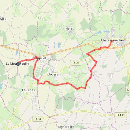 3ème étape La Motte Feuilly - Chateaumeillant sentier d'itinérance des Maîtres Sonneurs