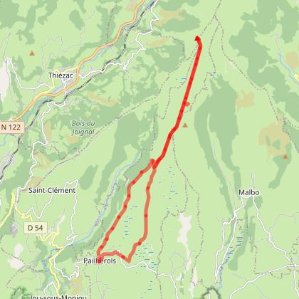 Montée sur le Puy Gros au Départ de Pailherols