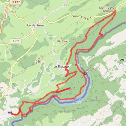 Le saut du Doubs/ Bélvèdère du Chatelard/Les planots
