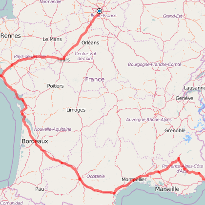 Sietse's cycling trip through France from Paris to Nice