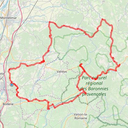 CYCLO CAMP DROME : Circuit 2 UN TOUR EN DROME PROVENCALE