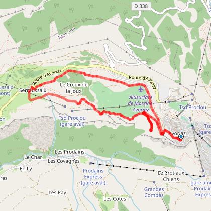 La Mine de la Lapiaz, le Lil'Stash et la Ferme de Séraussaix depuis Avoriaz