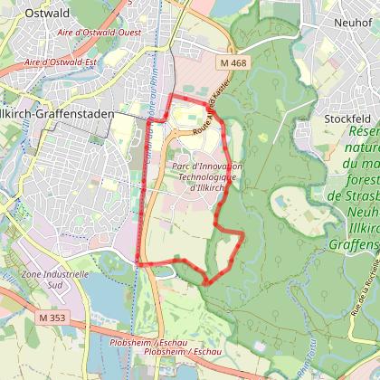 STRASBOURG : Les lisières du Rheingarten (67)