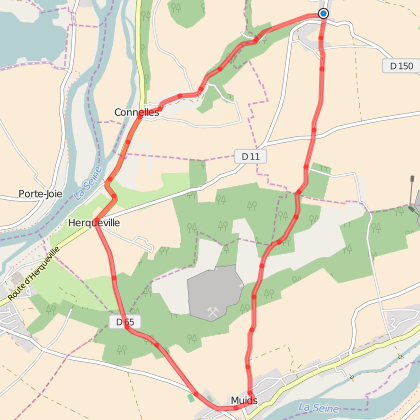 Balade en vélo Daubeuf-près-Vatteville <> Muids
