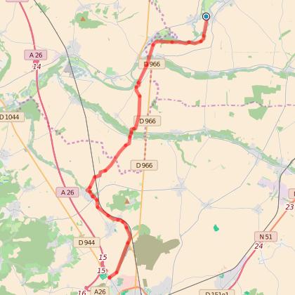 GR654 : Etape 6 de Vieux-lès-Asfeld à Reims