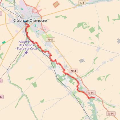 GR654 : Etape 10 de Châlons-en-Champagne à La-Chaussée-sur-Marne
