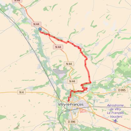 GR654 : étape11 de La-Chaussée-sur-Marne à Vitry-le-François
