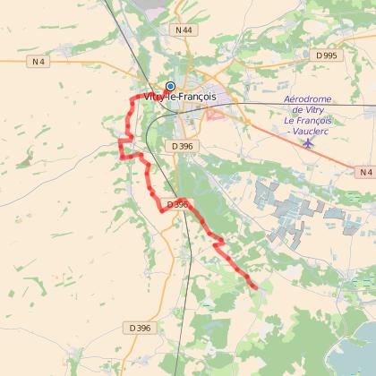 GR654 : Etape 12 de Vitry-le-François à Saint-Rémy-en-Bouzemont