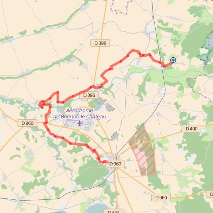 GR654 : Etape 14 de Lentilles à Brienne-le-Château