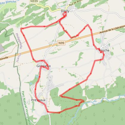 39 Circuit des Quatre Villages - balise bleue