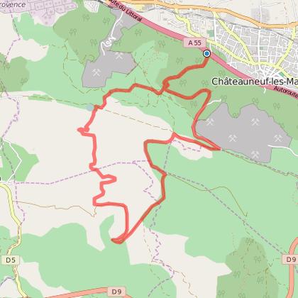 Dans les collines de Châteauneuf-les- Martigues