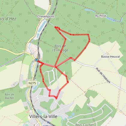 Villers-la-Ville : Wooden 's monks