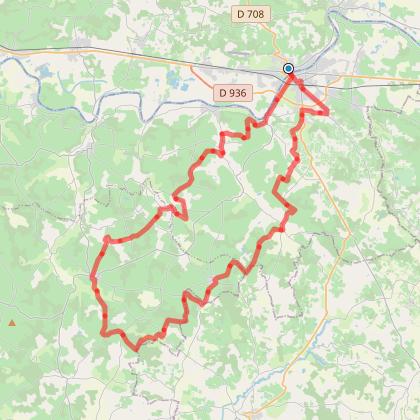 Randonnée VTT boucle 60 kms