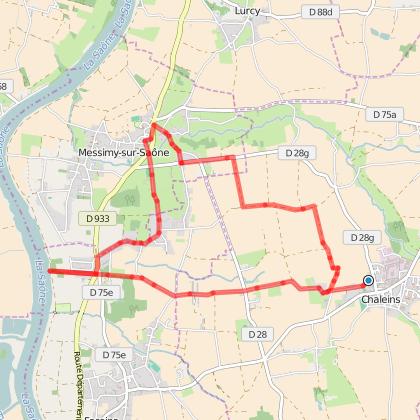 Circuit pédestre à la découverte des Châteaux du Val de Saône