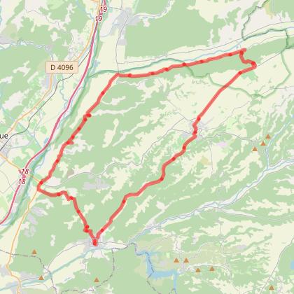 Circuit vallées de la Durance et de l'Asse à vélo et vélo électrique