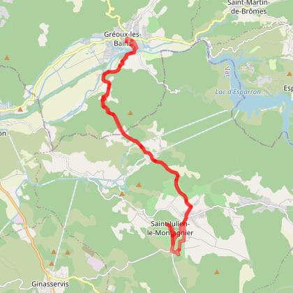 """Circuit """"en route vers Saint-Julien"""" à vélo et vélo électrique"""