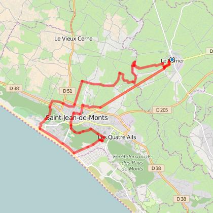 Vélocéane 2014, entre Le Perrier et Saint Jean de Monts