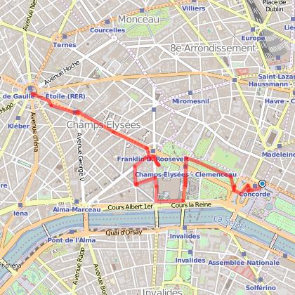 Balade de la Concorde à l'Arc de Triomphe : les Champs-Elysées
