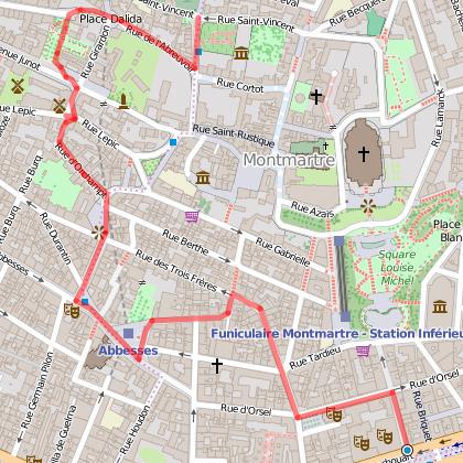 Montmartre, Itineraire atypique