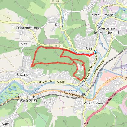 Doubs Rando' - Le tour du mont Bart - Bart