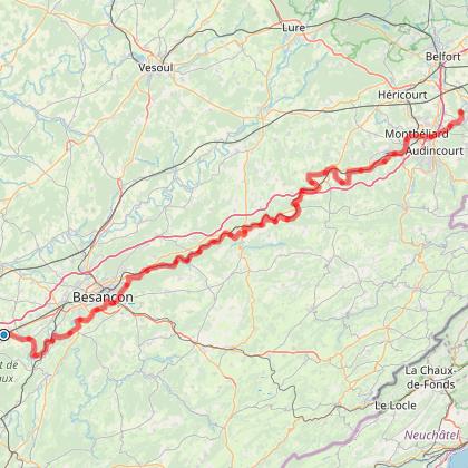 Doubs Cyclo' - L'EuroVélo 6 dans le Doubs
