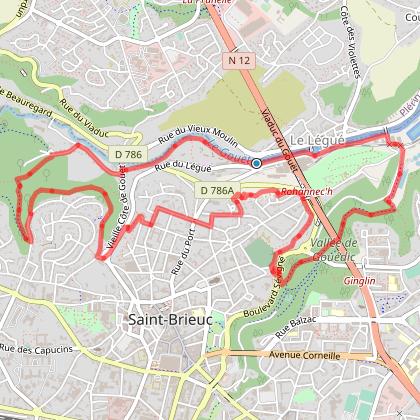 Saint-Brieuc, ville et vallées - variante 2 -