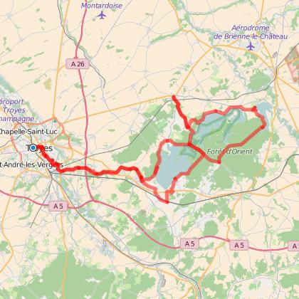 Escapade à vélo autour des Grands Lacs de la Forêt d'Orient