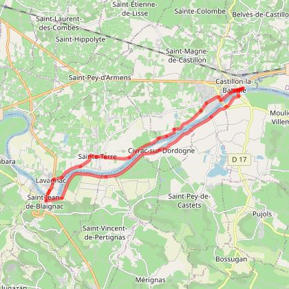 Sainte Terre et la Dordogne