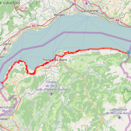 Tour du Léman (tracé section France)