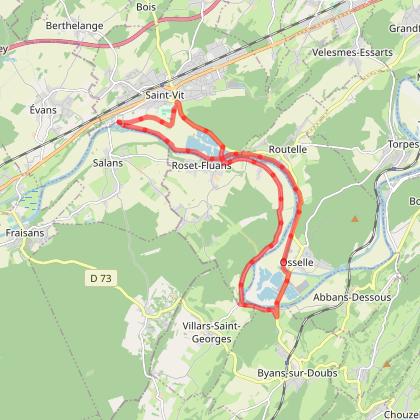 Doubs Cyclo' - La Grotte d'Osselle - Saint-Vit